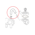 Durite inférieure pompe à eau Aixam tous modèles Mister VSP